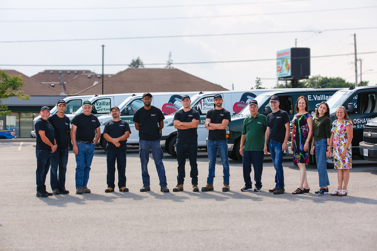 Vaillancourt Plumbing Team Photo Outside