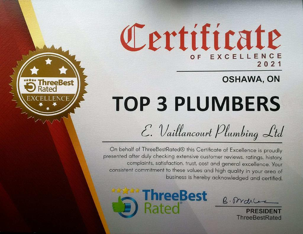 3 Best Top 3 Plumbers Certificate 2021