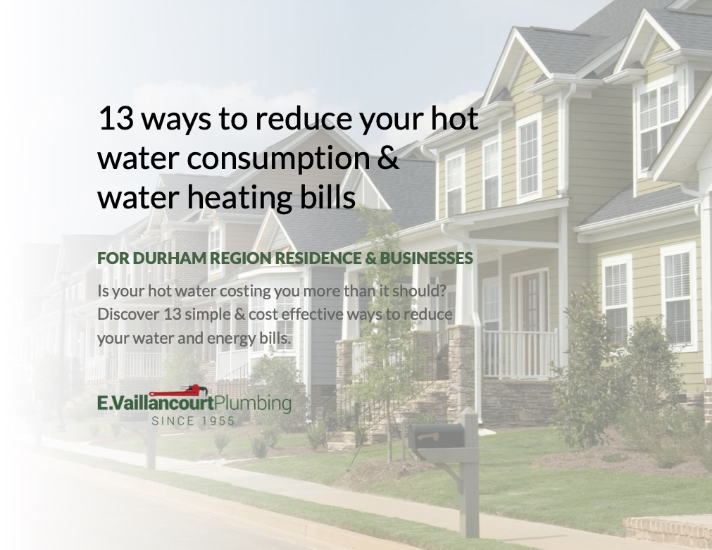 Cover: Is your hot water costing you more than it should? Discover 13 simple & cost effective ways you can reduce your hot water consumption and water heating bills.