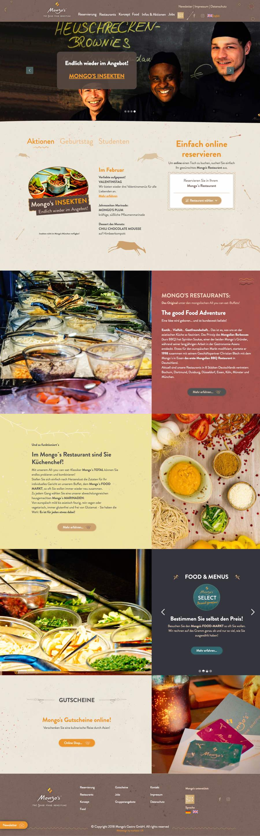 Mongo´s Webdesign Referenz