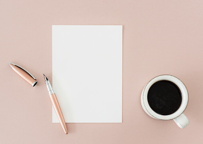 writing for your brand flatlay