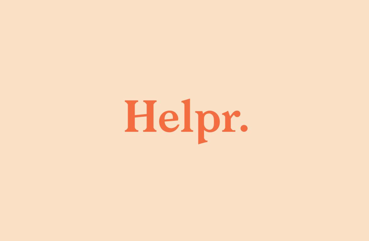 Helpr Media logo concept