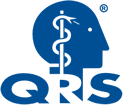 picture of QRS logo with blue head and Asclepius symbol with a link to QRS treatment page