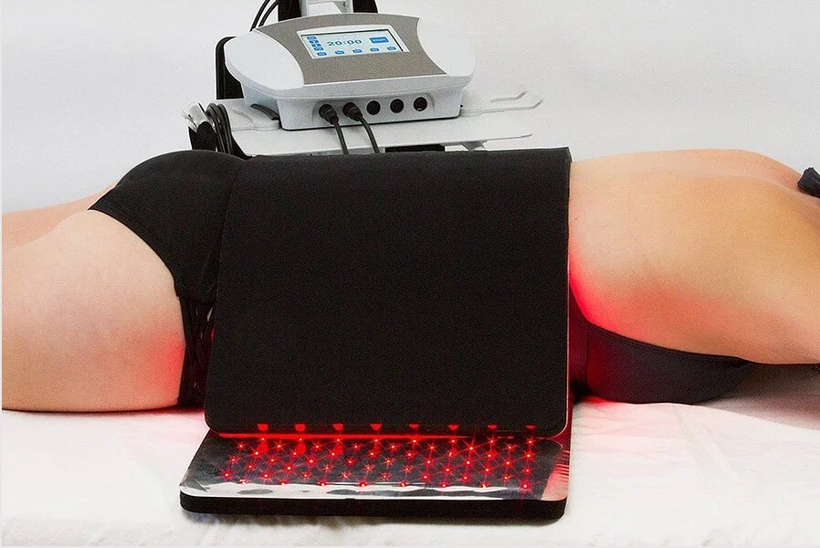 Photo of a patient using the Ultimate Light System