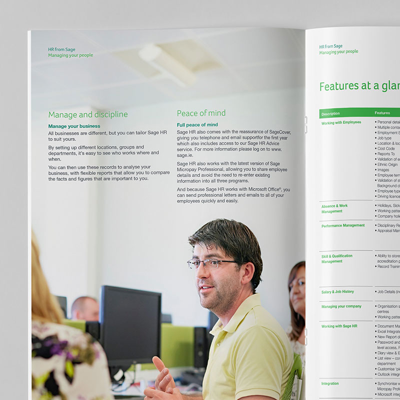 Sage 200 Brochure Spread