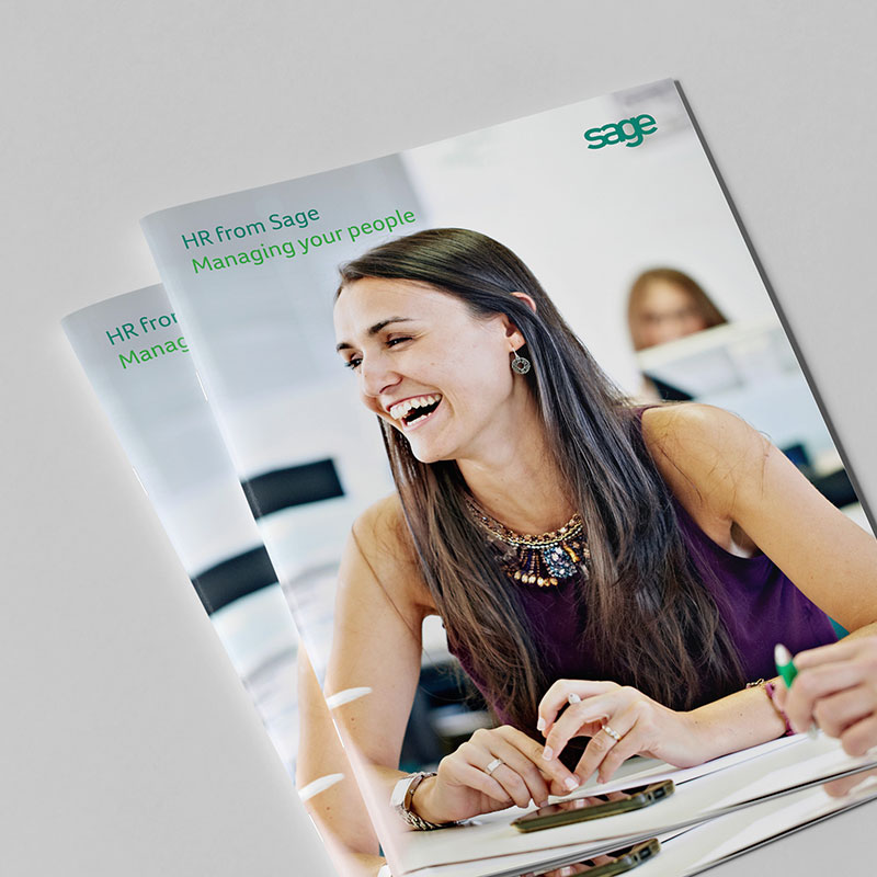 Sage HR Brochure Covers