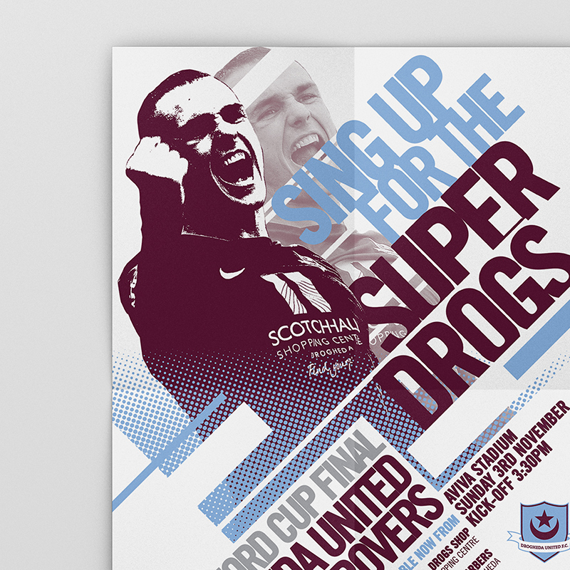 Drogheda United v Sligo Rovers Cup Final Poster