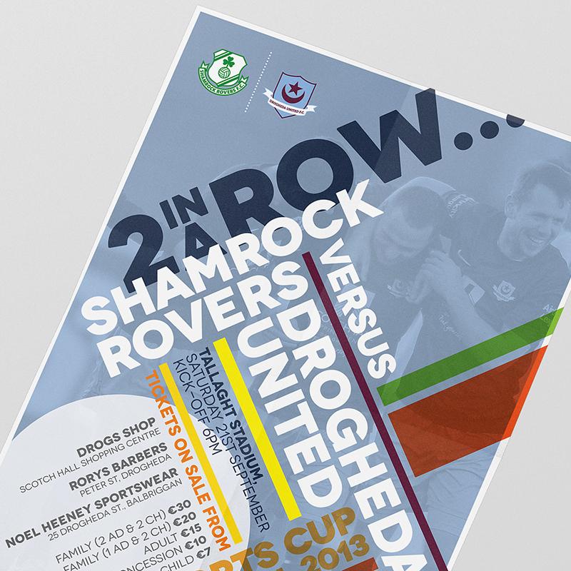 Drogheda United Cup Tie Poster Design