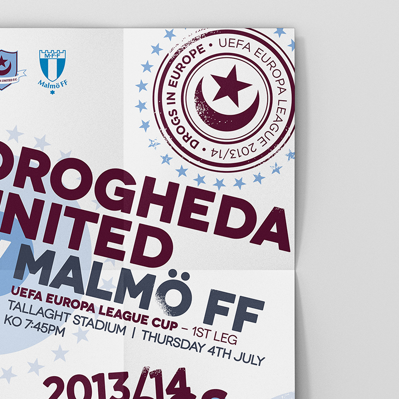 Drogheda United v Malmo UEFA League Cup Poster