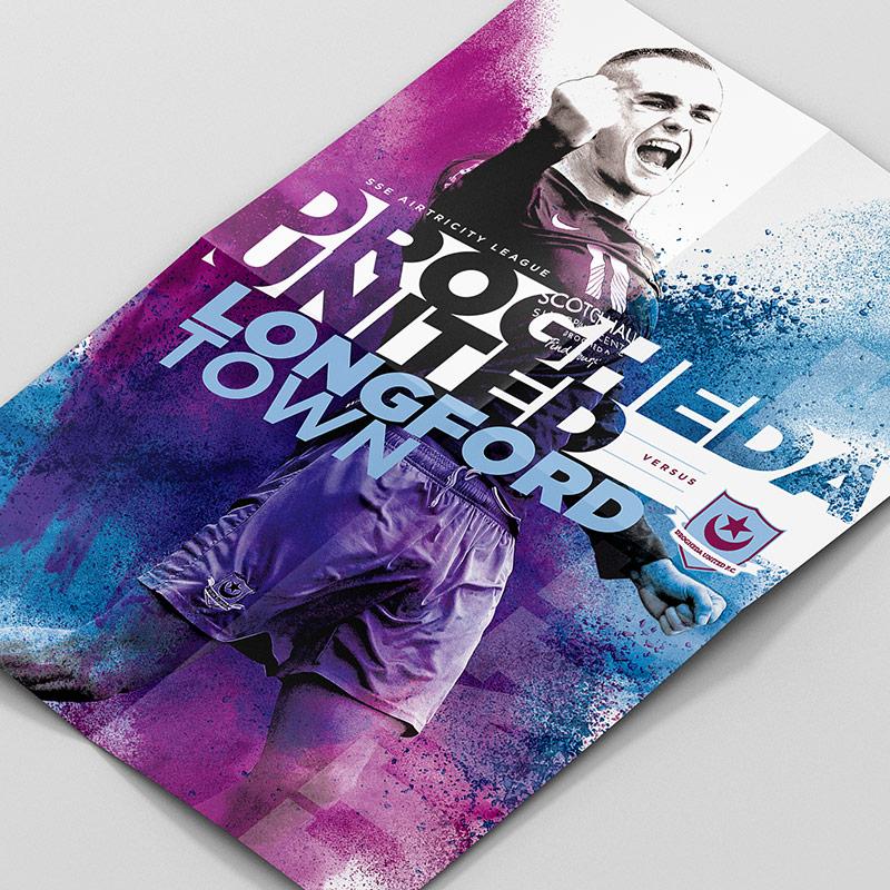 Drogheda United Cup Match Poster Design