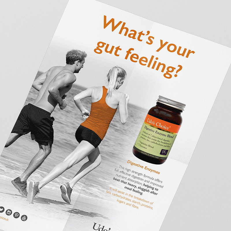 Udo's Choice Udo's Oil Fitness Poster Design