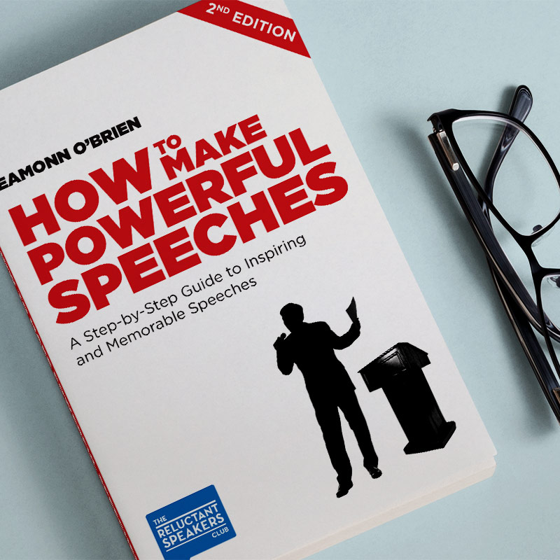 How to Make Powerful Speeches Book Cover Design