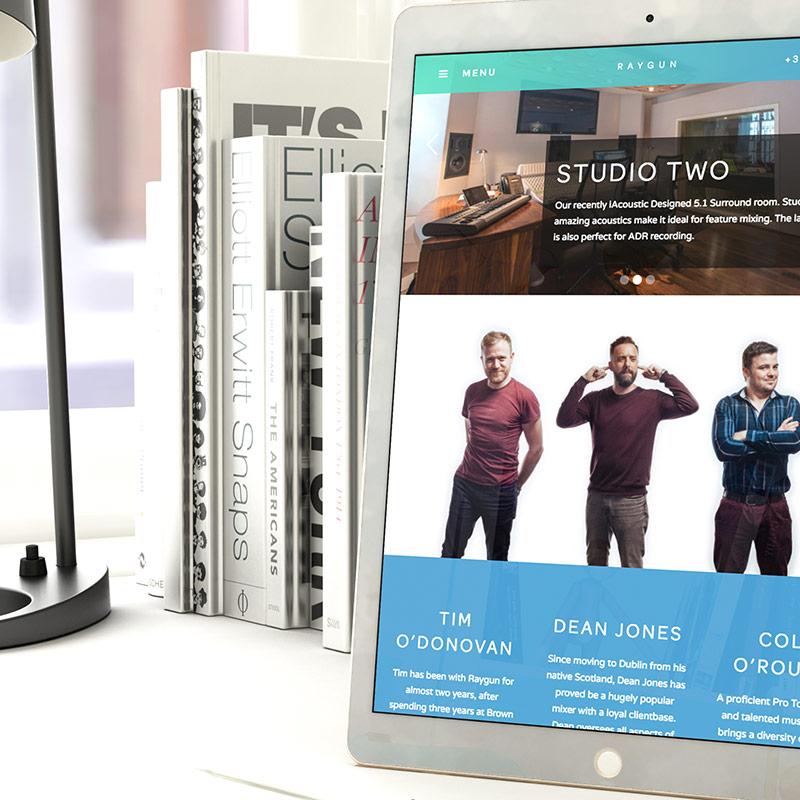 Raygun Website Design Tablet