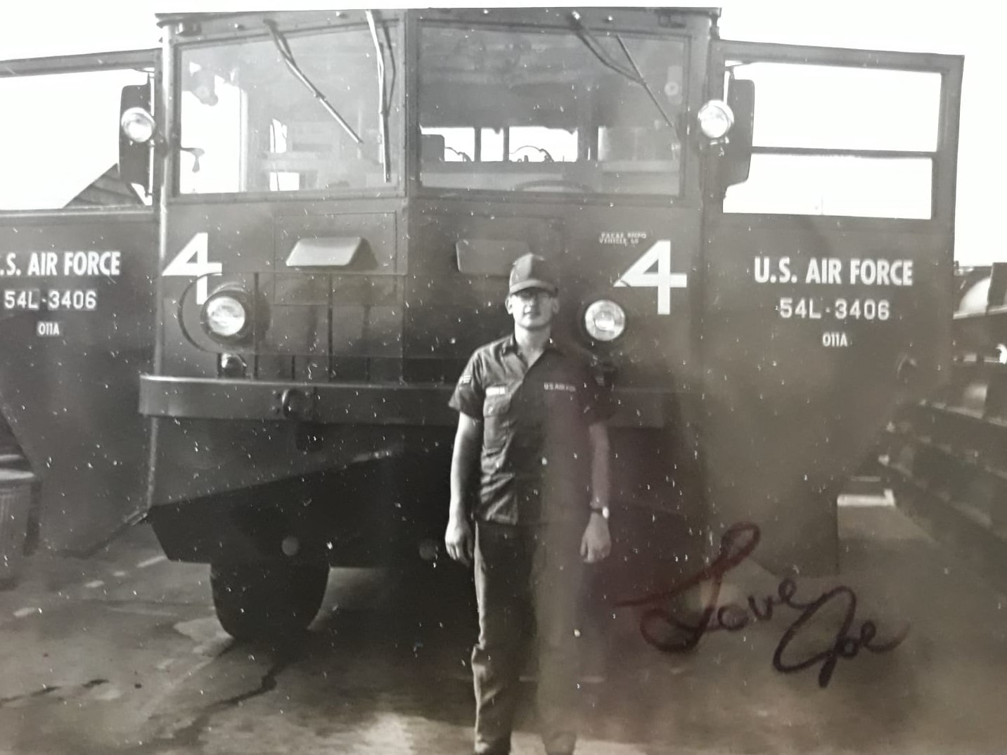 My father, Joseph Raymond Sandoval, early in his Air Force career as a firefighter.
