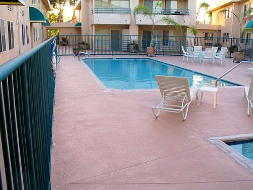 commercial pool area