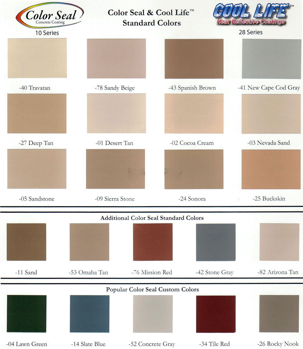 Life Paint Color Chart
