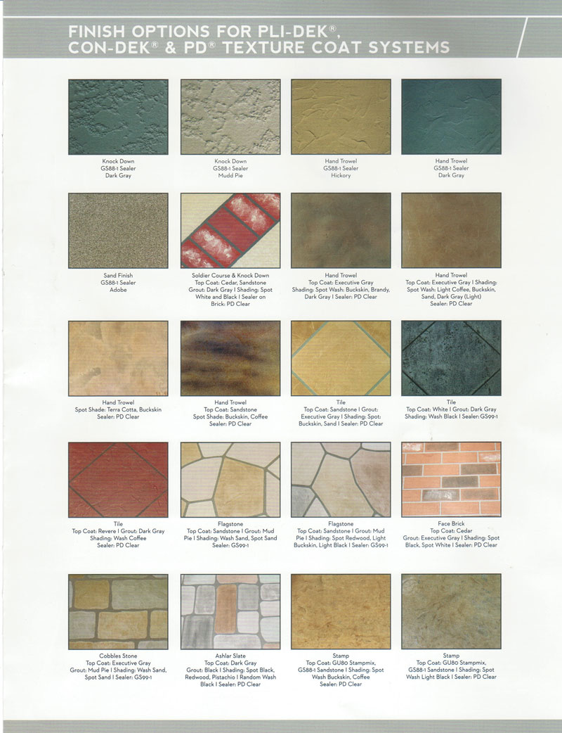 Pli deck Color Chart
