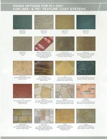 Pli deck Color Chart
