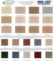 Life Paint Color Chart