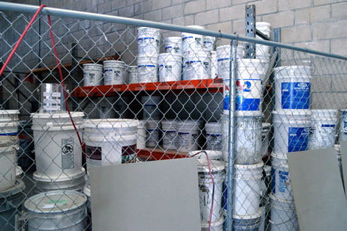 Supplies used for deck waterproofing in Orange County, CA