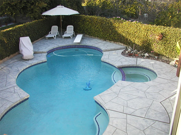 Photo of a client getting pool deck repair in Orange County, CA