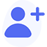 blue human icon with a plus to show OhmConnect connectivity