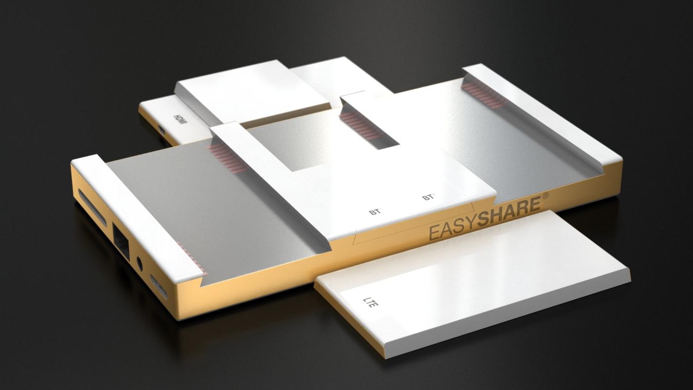 expanded smart share gadget 3d design and modeling