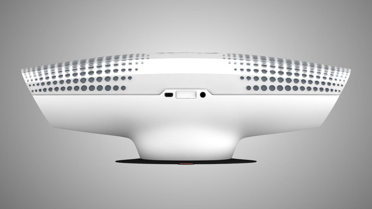 speaker vibration 3d modeling side view