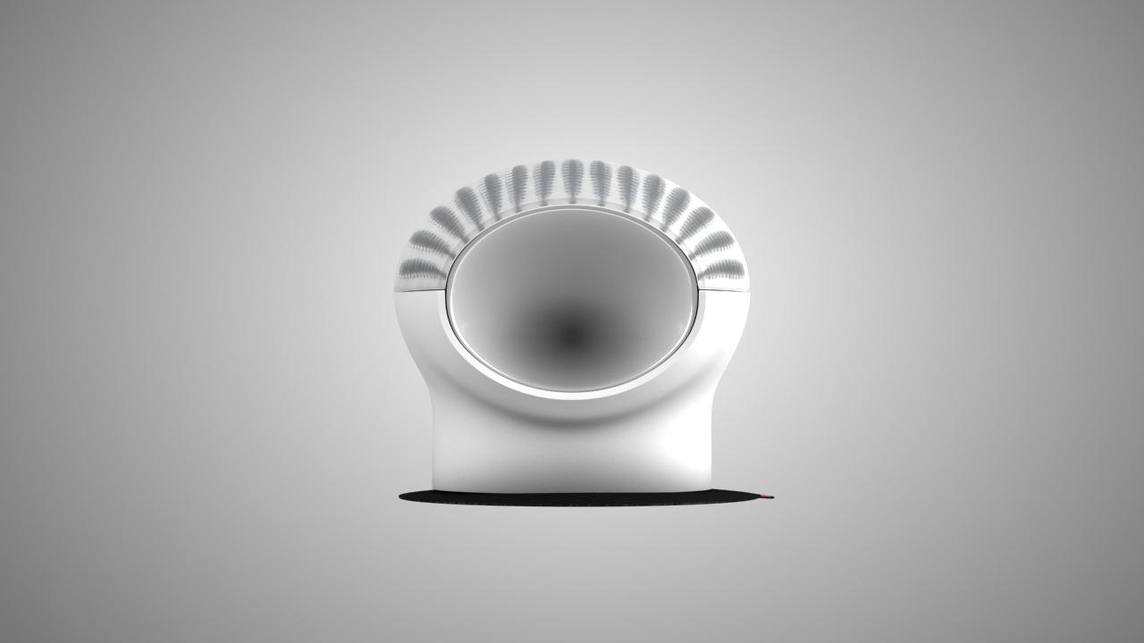 speaker vibration 3d modeling front view