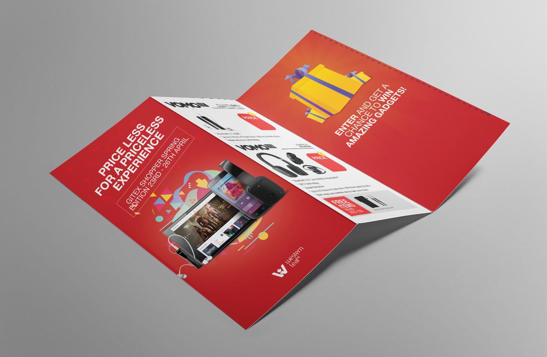 tri-fold flyer brochure design