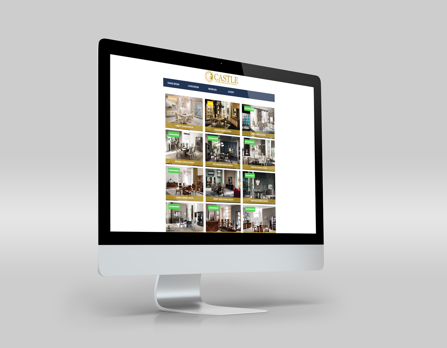 imac responsive website products page design