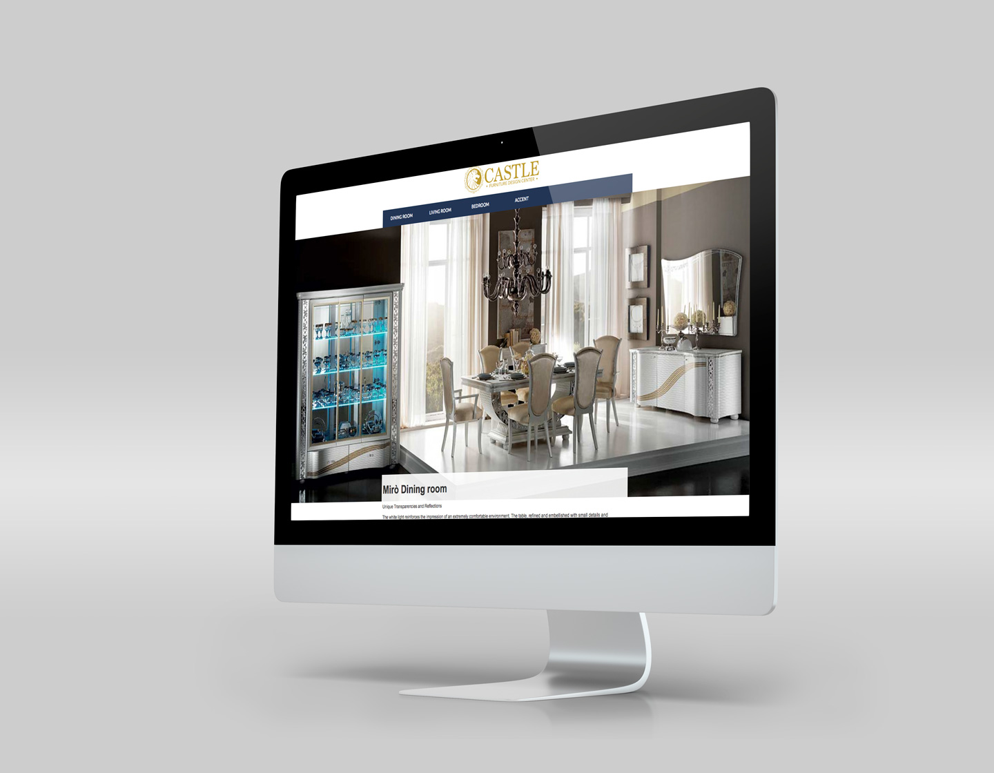 imac responsive website product page design