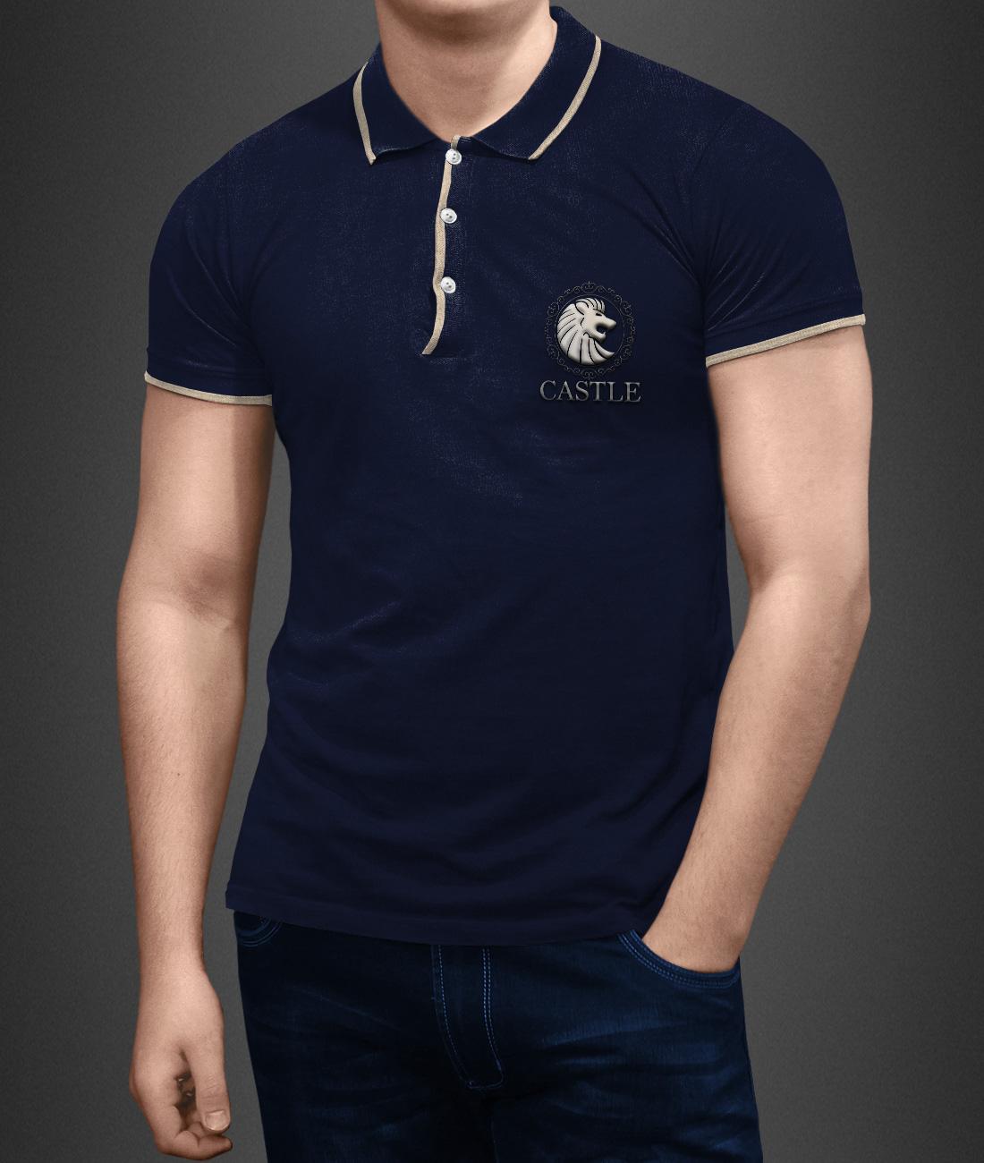male polo shirt employee design