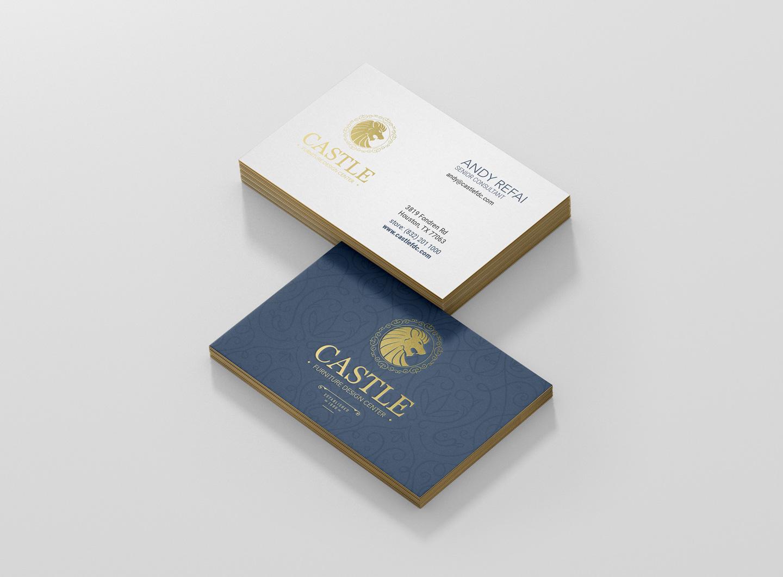 business card design sandwich style