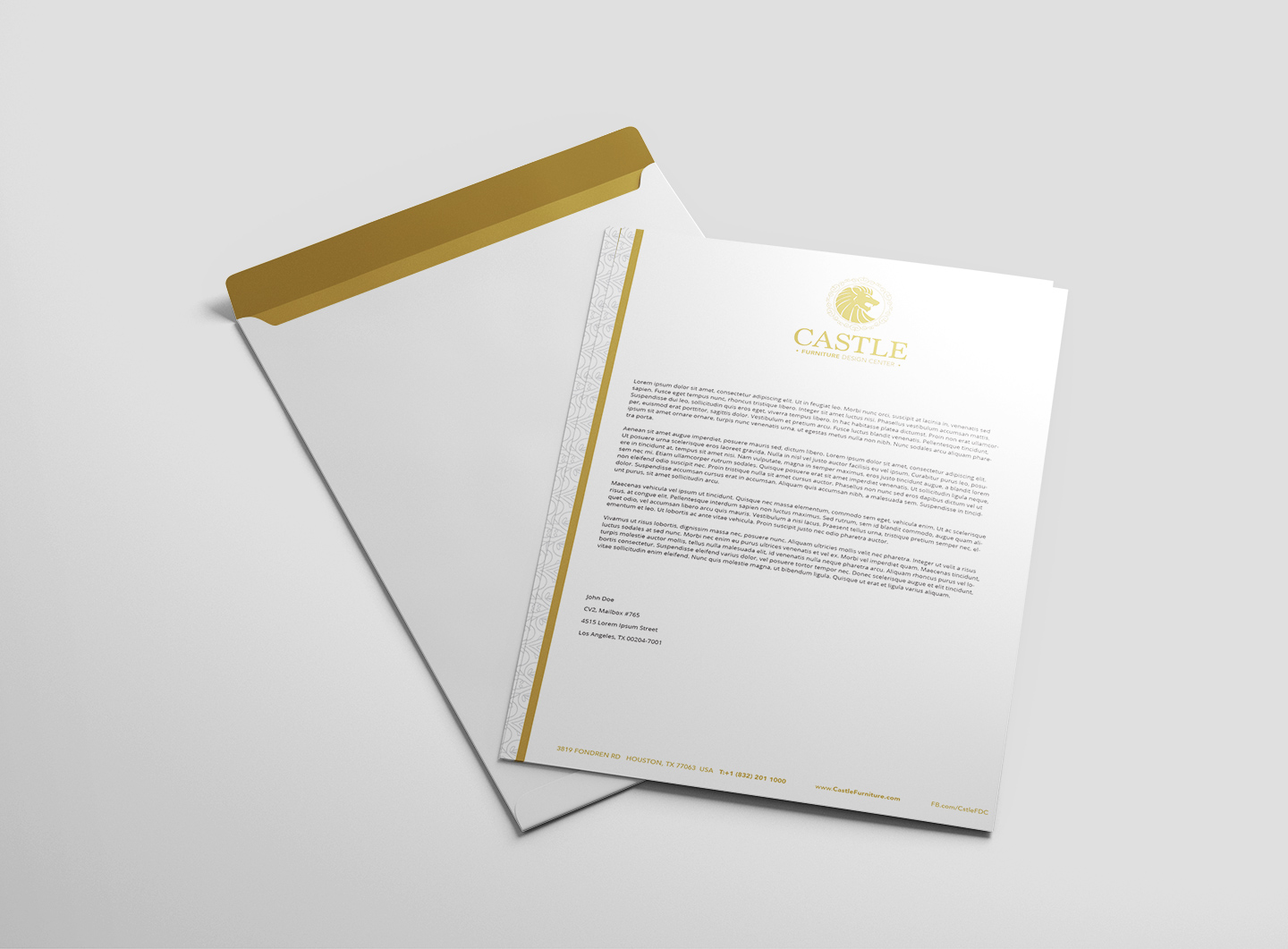letterhead and a4 letter size envelope
