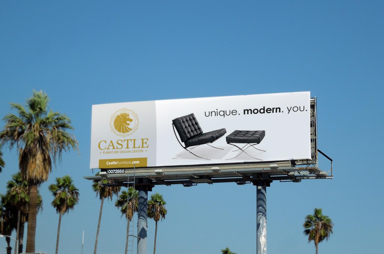 outdoor, billboard furniture ad design