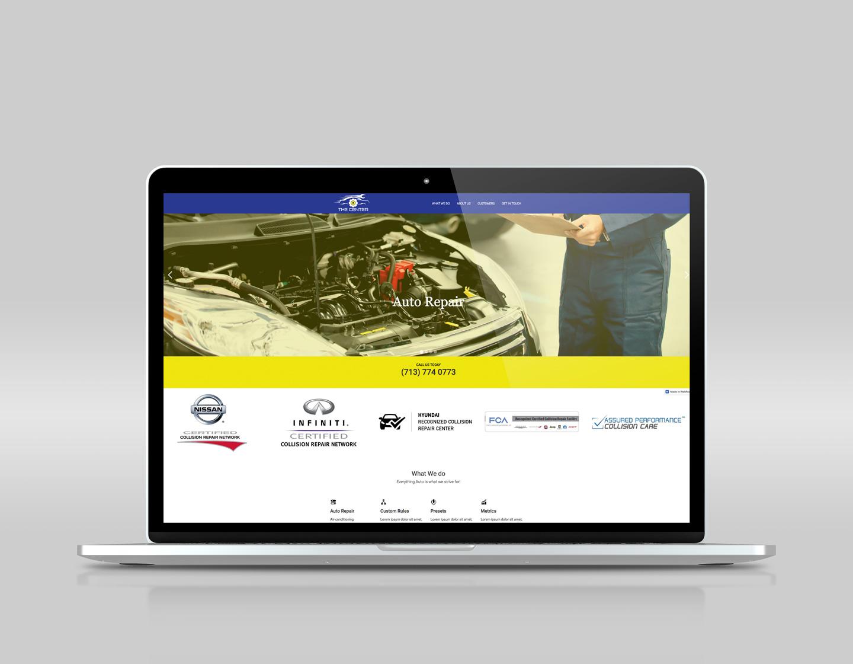 responsive website on laptop