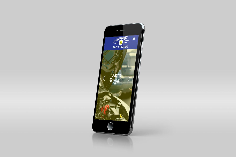responsive website on smartphone