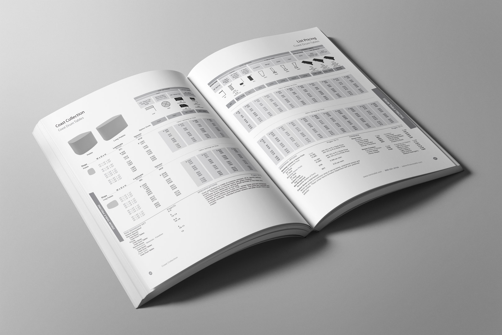 furniture pricebook inside pages design