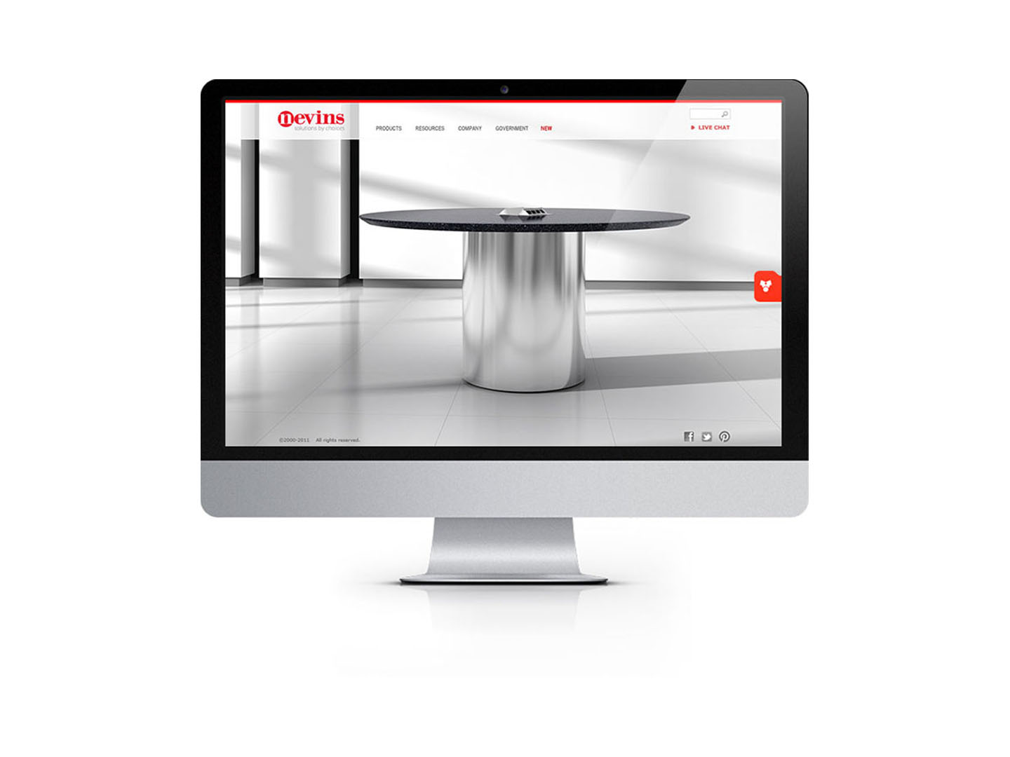 responsive website design on desktop imac