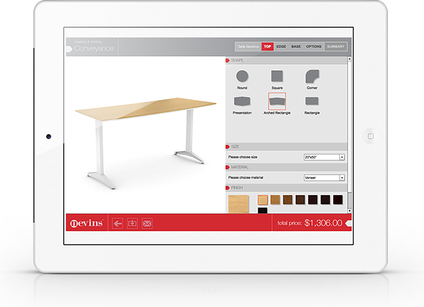 ipad tablet mobile app furniture builder