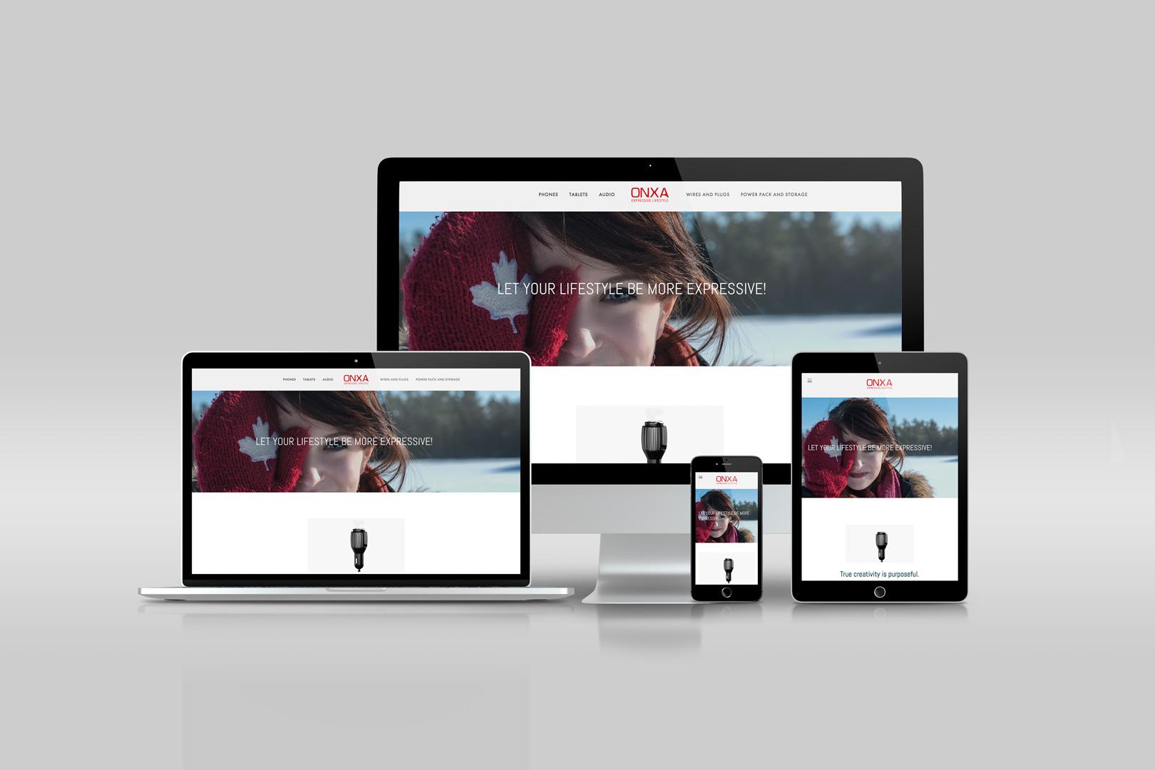 responsive shopping and ecommerce website design desktop, laptop, smartphone and tablet