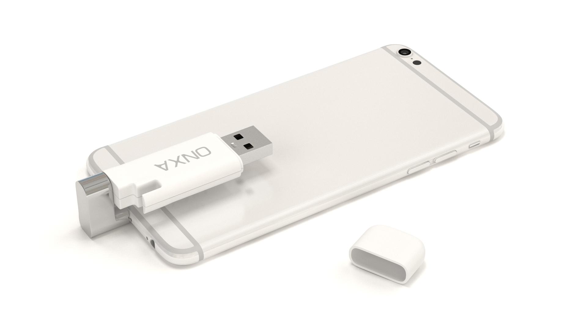 usb lightening iphone storage 3d modeling