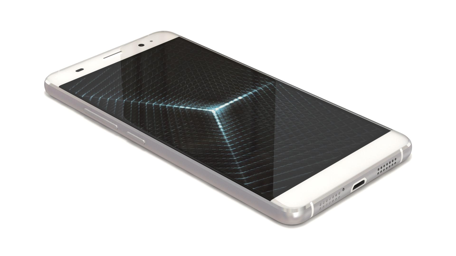 """white 5"""" smartphone 3d modeling"""