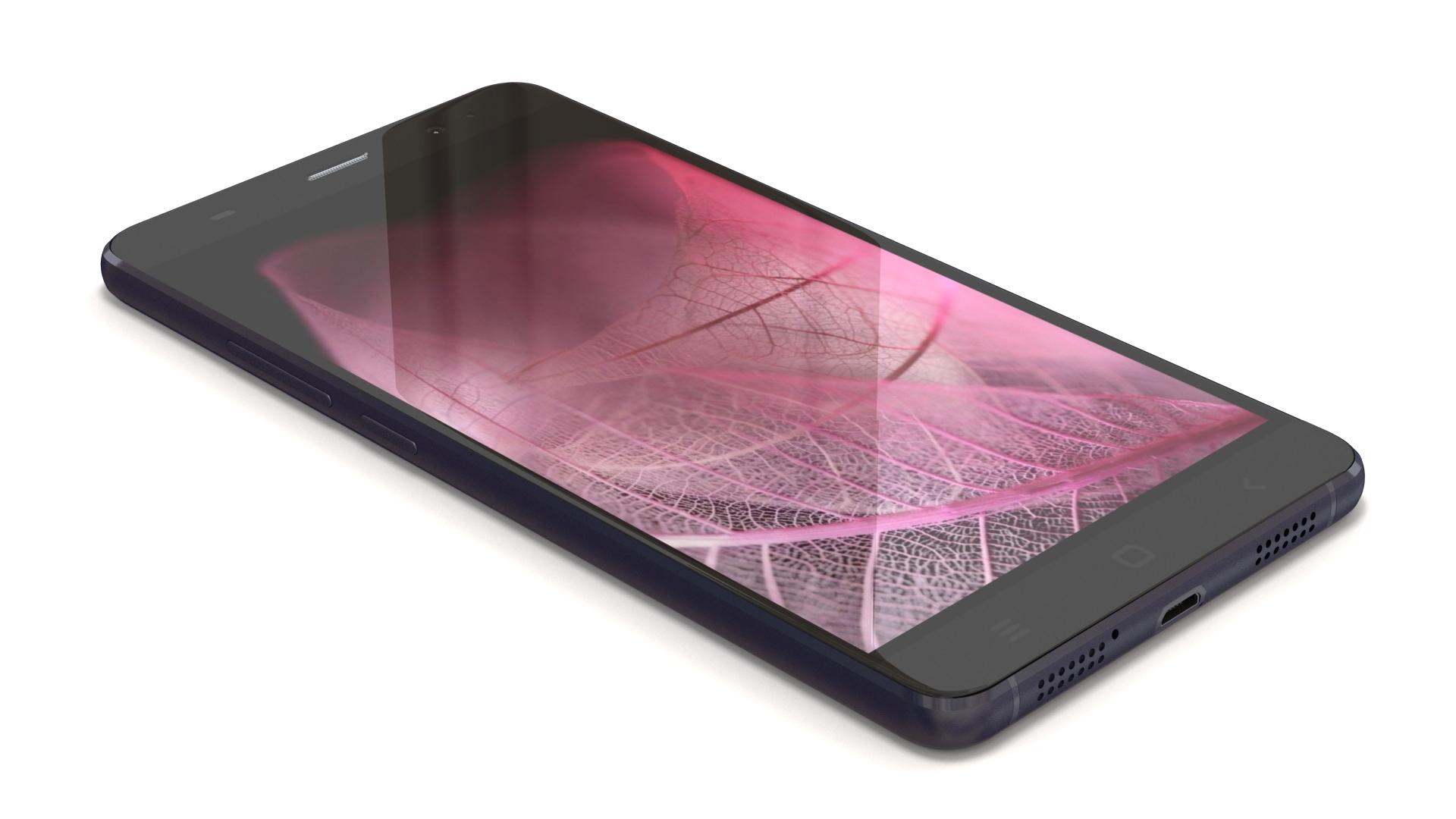 """black 5"""" smartphone 3d modeling"""