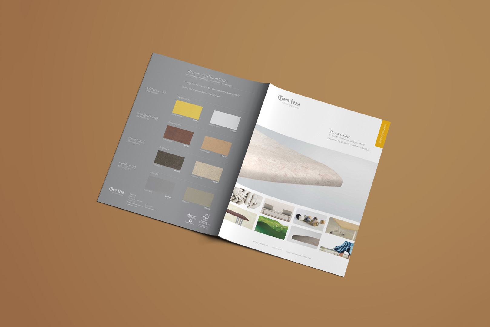 Furniture brochure print design