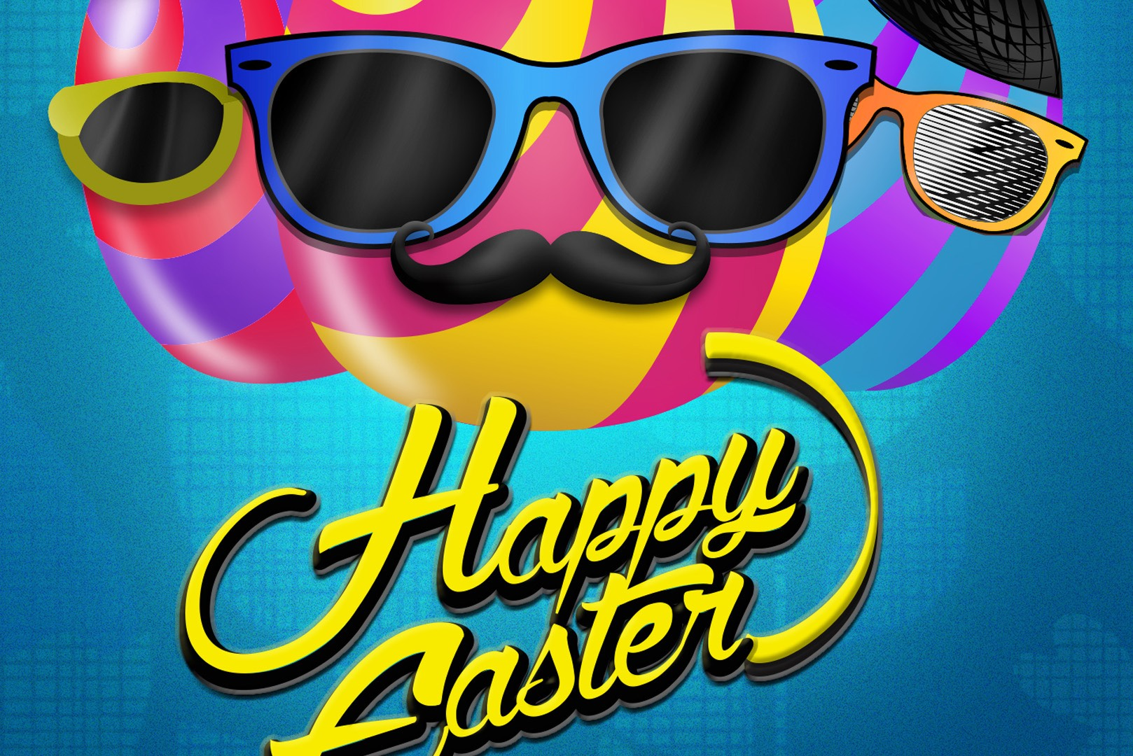happy easter social media facebook twiiter design