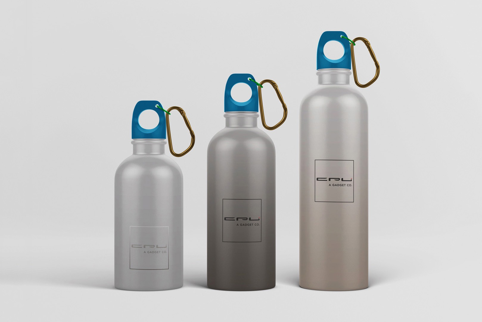 Promotional water bottle and corporate identity design