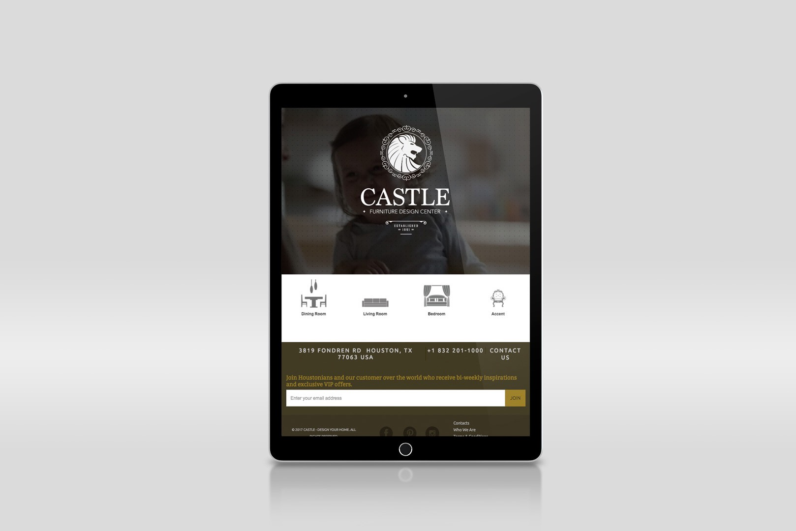 responsive ipad website design