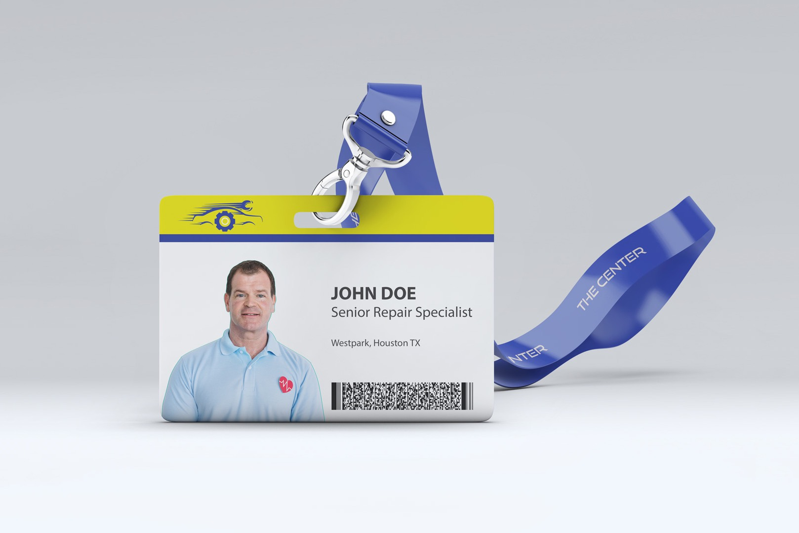 Employee access card and corporate identity design